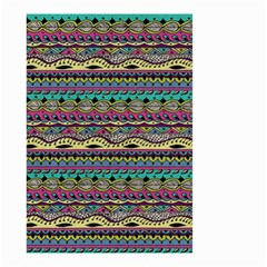Aztec Pattern Cool Colors Small Garden Flag (two Sides)
