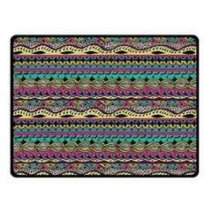 Aztec Pattern Cool Colors Double Sided Fleece Blanket (small)