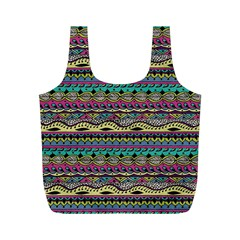 Aztec Pattern Cool Colors Full Print Recycle Bags (m)
