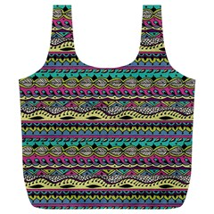 Aztec Pattern Cool Colors Full Print Recycle Bags (l)