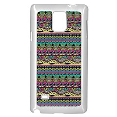 Aztec Pattern Cool Colors Samsung Galaxy Note 4 Case (white)