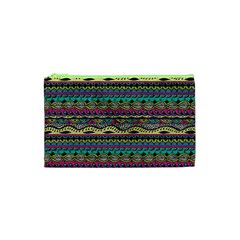Aztec Pattern Cool Colors Cosmetic Bag (xs)