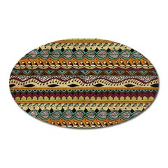 Aztec Pattern Ethnic Oval Magnet