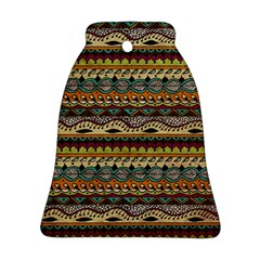 Aztec Pattern Ethnic Bell Ornament (two Sides)