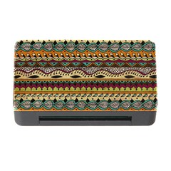 Aztec Pattern Ethnic Memory Card Reader With Cf