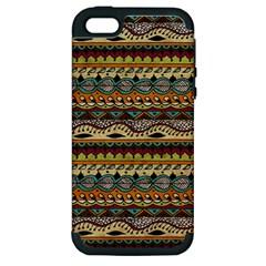 Aztec Pattern Ethnic Apple Iphone 5 Hardshell Case (pc+silicone)