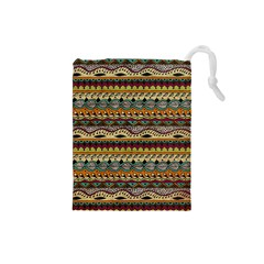 Aztec Pattern Ethnic Drawstring Pouches (small)