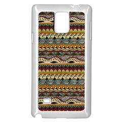 Aztec Pattern Ethnic Samsung Galaxy Note 4 Case (white)