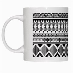 Aztec Pattern Design White Mugs