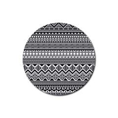 Aztec Pattern Design Rubber Coaster (round)
