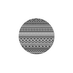 Aztec Pattern Design Golf Ball Marker