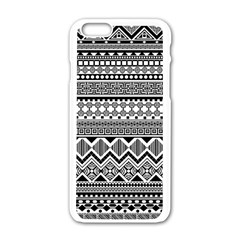 Aztec Pattern Design Apple Iphone 6/6s White Enamel Case