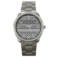 Aztec Pattern Design(1) Sport Metal Watch