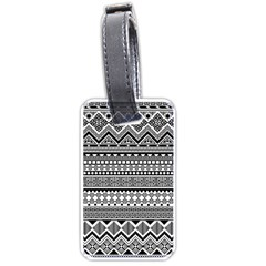 Aztec Pattern Design(1) Luggage Tags (one Side)