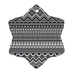 Aztec Pattern Design(1) Snowflake Ornament (two Sides)