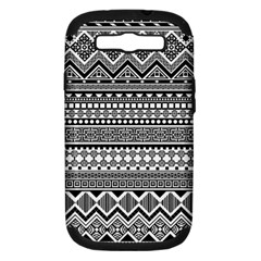 Aztec Pattern Design(1) Samsung Galaxy S Iii Hardshell Case (pc+silicone)