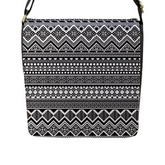 Aztec Pattern Design(1) Flap Messenger Bag (l)