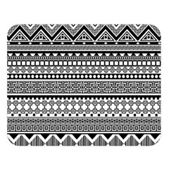 Aztec Pattern Design(1) Double Sided Flano Blanket (large)