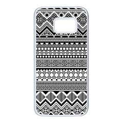 Aztec Pattern Design(1) Samsung Galaxy S7 White Seamless Case