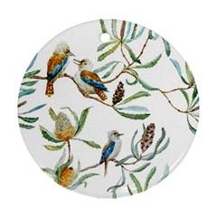 Australian Kookaburra Bird Pattern Ornament (round)