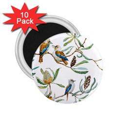 Australian Kookaburra Bird Pattern 2 25  Magnets (10 Pack)