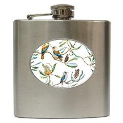 Australian Kookaburra Bird Pattern Hip Flask (6 Oz)