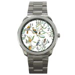 Australian Kookaburra Bird Pattern Sport Metal Watch Front