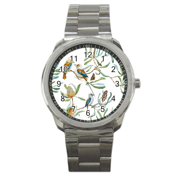 Australian Kookaburra Bird Pattern Sport Metal Watch