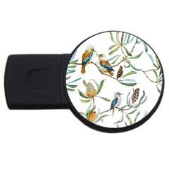 Australian Kookaburra Bird Pattern Usb Flash Drive Round (4 Gb)