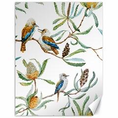 Australian Kookaburra Bird Pattern Canvas 18  X 24