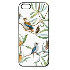 Australian Kookaburra Bird Pattern Apple Iphone 5 Seamless Case (black)