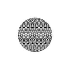 Aztec Design  Pattern Golf Ball Marker