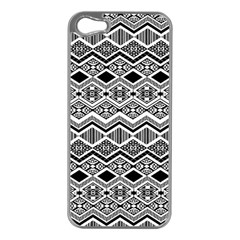 Aztec Design  Pattern Apple Iphone 5 Case (silver)