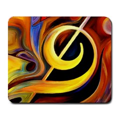 Art Oil Picture Music Nota Large Mousepads