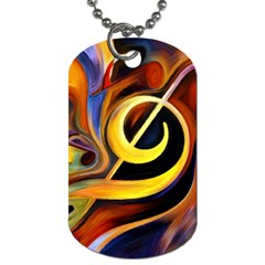 Art Oil Picture Music Nota Dog Tag (one Side)
