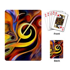 Art Oil Picture Music Nota Playing Card