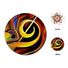 Art Oil Picture Music Nota Playing Cards (round)