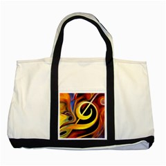 Art Oil Picture Music Nota Two Tone Tote Bag
