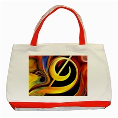 Art Oil Picture Music Nota Classic Tote Bag (red)