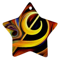 Art Oil Picture Music Nota Star Ornament (two Sides)