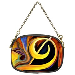 Art Oil Picture Music Nota Chain Purses (two Sides)