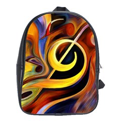 Art Oil Picture Music Nota School Bags(large)