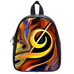 Art Oil Picture Music Nota School Bags (small)