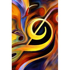 Art Oil Picture Music Nota 5 5  X 8 5  Notebooks