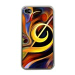 Art Oil Picture Music Nota Apple iPhone 4 Case (Clear) Front