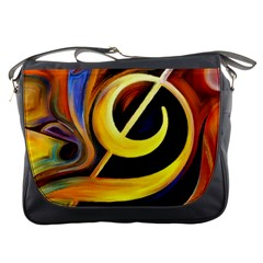 Art Oil Picture Music Nota Messenger Bags