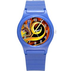 Art Oil Picture Music Nota Round Plastic Sport Watch (s)