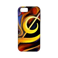 Art Oil Picture Music Nota Apple Iphone 5 Classic Hardshell Case (pc+silicone)