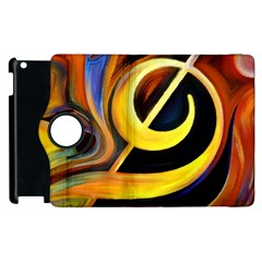 Art Oil Picture Music Nota Apple Ipad 2 Flip 360 Case