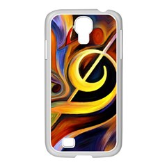 Art Oil Picture Music Nota Samsung Galaxy S4 I9500/ I9505 Case (white)